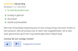 Review kniebank